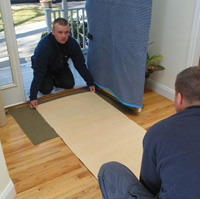 Floor protection Usantini moving and storage