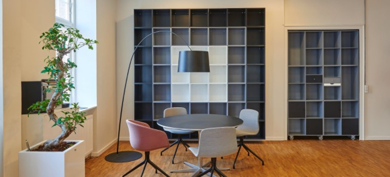 office needs the benefits of storage when renovating