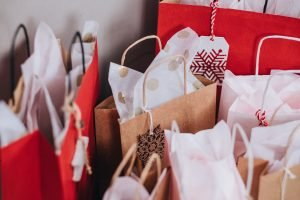 Image of shopping bags like this is something you should forget about if you are creating a family budget.