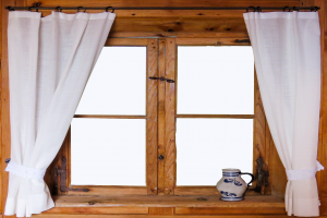 Cheap rental decorating tips - put curtains on your windows