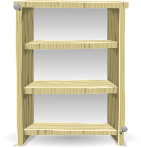 A freestanding Shelving unit