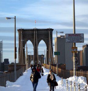 Brooklyn bridge at winter