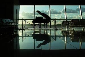 a concert grand piano