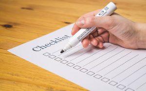 A checklist that will