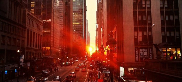 How to handle moving out of NYC - new york sunset