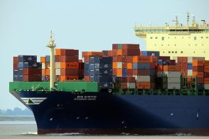 a ship loaded with containers