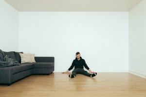 Sitting on the floor