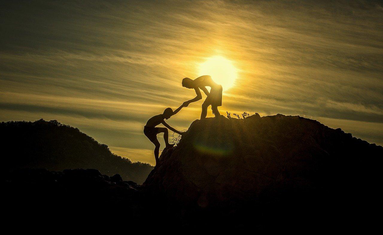 helping in a climb