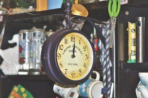 the clock at the flea market