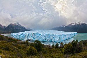 A glacier in Argentina.