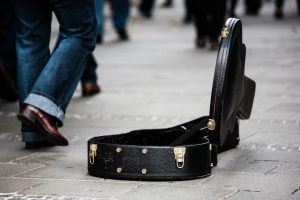 Guitar Case om the floor
