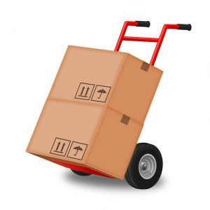 Hand truck with two boxes