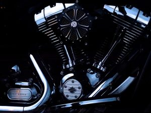The engine, make sure you replace the oil before you store your motorcycle for winter