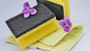 cleaning sponges - spring-cleaning your Brooklyn home