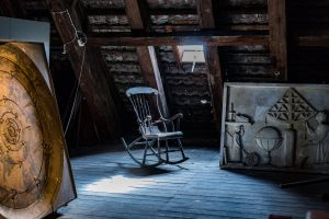 Rocking chair in the attic
