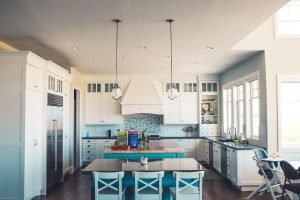To organize a new kitchen, explore and demarcate different zones