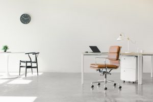 empty office space with a chair