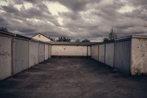 Sets of purpose-built garages