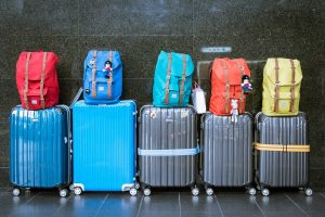 Suitcases ready for relocation