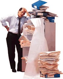 Busy man looking at documents, Moving company, Brooklyn movers, Man with boxes