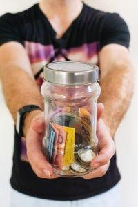 A jar full of money.