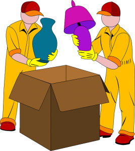unpacking service from a large box