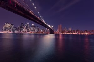 A picture of a Brooklyn bridge
