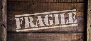 Fragile items inside a box.