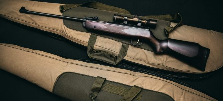 A rifle ready for storage.