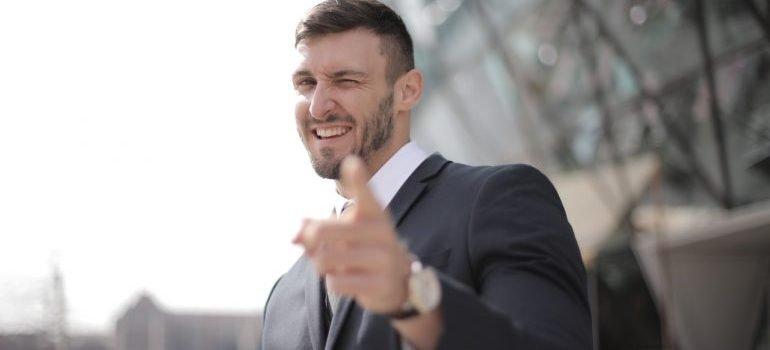 Businessman posing for camera