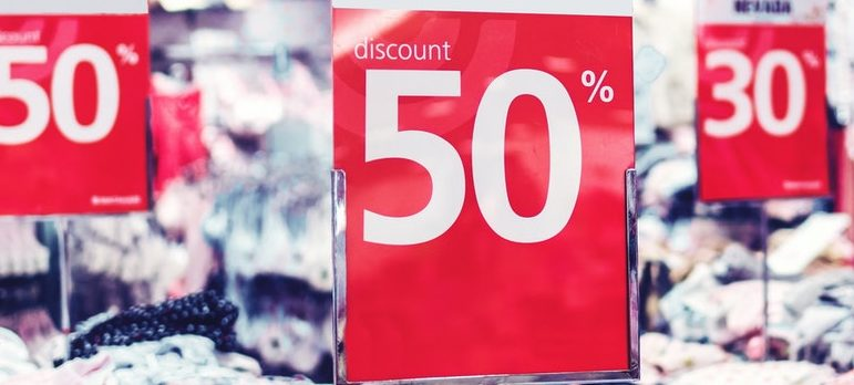 organize a discount sale before moving a retail store