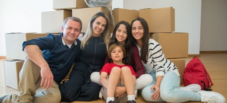 A family preparing for moving overseas from NYC