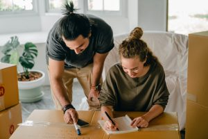 couple creating a to-do list