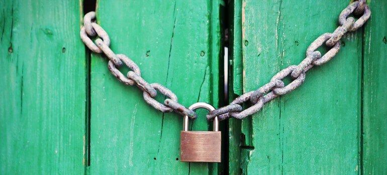 A lock on the door