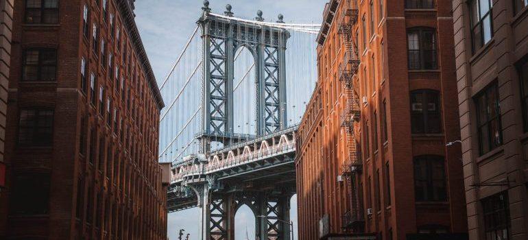 Brooklyn bridge in the distance