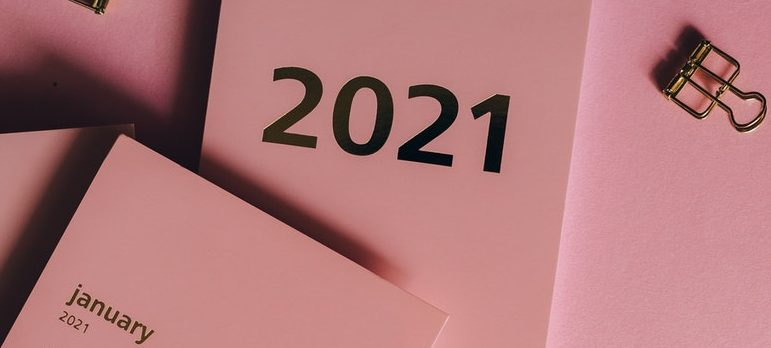 A pink calendar for 2021