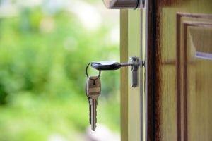 A key in the lock.
