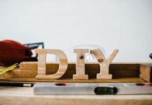 DIY sign made out of wood