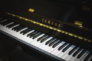 A Yamaha piano keyboard.