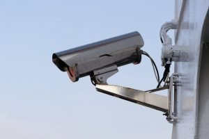 A surveillance camera, which all Park Slope storage units have.