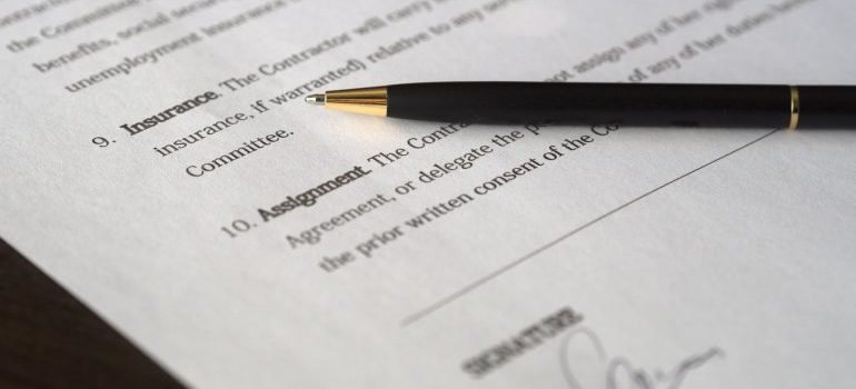 Moving company contracts