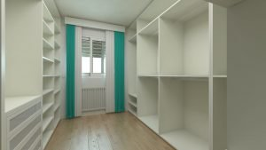 An empty white closet is all that will be left after our movers Gowanus are done with work.