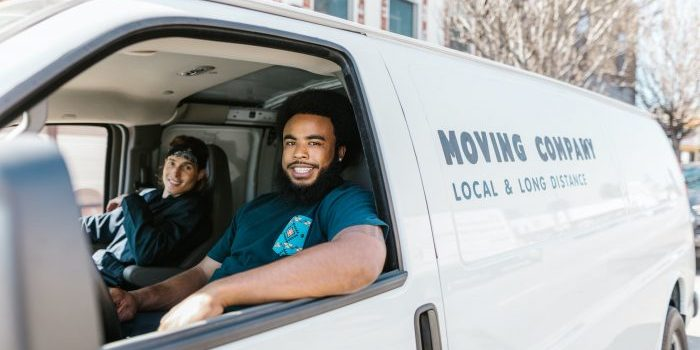 Movers in a moving truck