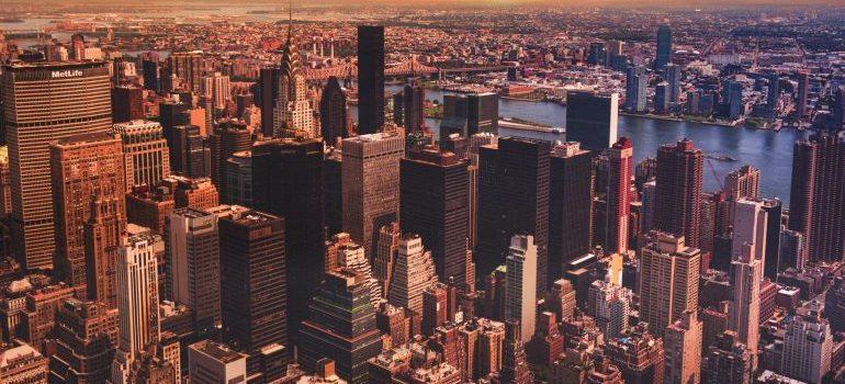 The view on Manhattan