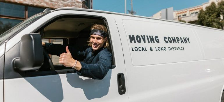 A moving truck