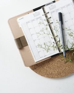 a pen on the scheduler