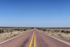a long empty road