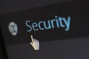 security written on a screen