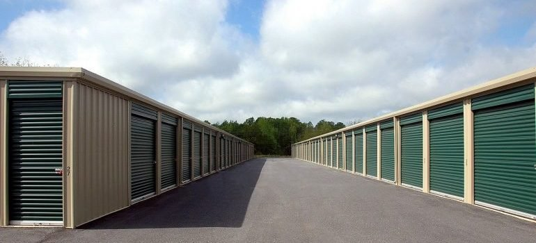 Picture of exterior of storage units
