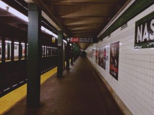 After relocating to New York from a big place, get used to the subway.